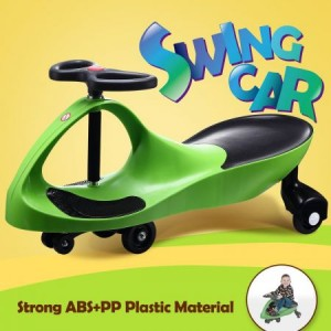 Swing Car Slider Kids Fun Ride On Toy with Foot Mat Apple Green