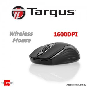 Targus W575 Wireless USB Mouse 2.4GHz 1600 DPI Black