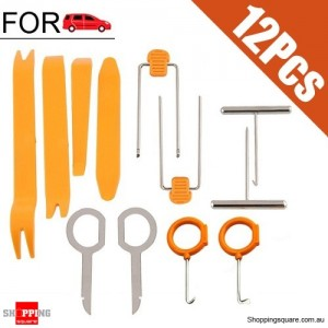 12pcs Set Pry Tool Install Removal for Car Door Plastic Trim Panel Dash Audio Radio