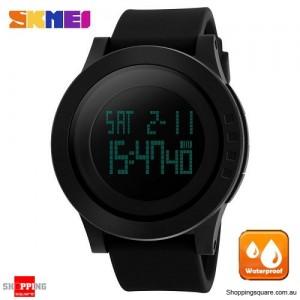 SKMEI 1142 Men's Waterproof LED Chronograph Digital Alarm Sport Watch Black Colour