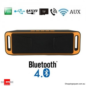 Portable Bluetooth 4.0 Mini Wireless Stereo Speaker with Mega Bass For Android iPhone Orange Colour