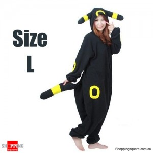 Pokemon Adult Anime Costume Pajamas for Sleeping Cosplay Party Go - Umbreon Size L