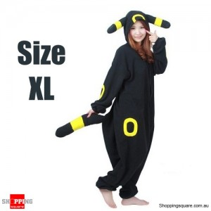 Pokemon Adult Anime Costume Pajamas for Sleeping Cosplay Party Go - Umbreon Size XL