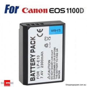 CAN.LP-E10 Rechargeable Li-ion 2300mAh 7.4V Protected Battery for Canon