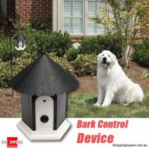 Puppy Dog Ultrasonic Outdoor Anti Barking Unitp Stop Bark Control Device Black Colour