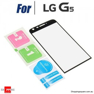 3D Curved Full Cover Tempered Glass Film LCD Screen Protector For LG G5 Black Colour