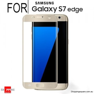 Full Curved 3D HD Tempered Glass Screen Protector For Samsung Galaxy S7 Edge Gold Colour