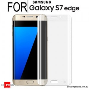 Full Curved 3D HD Tempered Glass Screen Protector For Samsung Galaxy S7 Edge White Colour