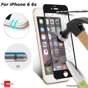 0.33mm 3D Curve Edge 9H Tempered Glass Screen Protector Full Cover For iPhone 6 / 6S