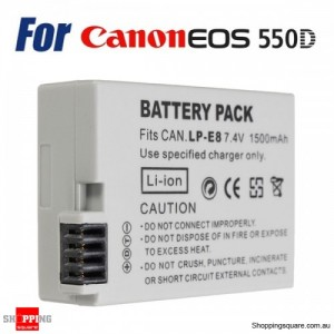 LP-E8 Rechargeable 7.4V 1500mAh Camera Battery for Canon 550D 600D 650D 700D