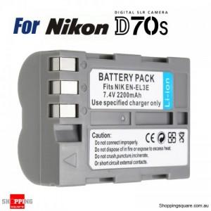 EN-EL3e Rechargeable 7.4V 2400mAh Battery for Nikon Camera D30 D50 D70 D90 D70S D300