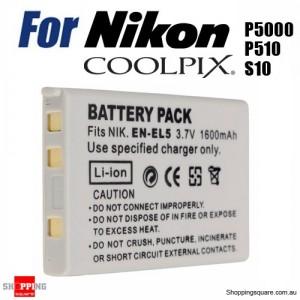 ENEL5 EN-EL5 Rechargeable 1600mAh 3.7V Li-ion Digital Camera Battery for Nikon Coolpix