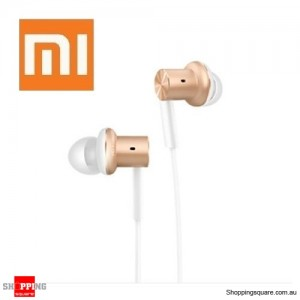 New Xiaomi 4th Generation Piston Hybrid Dual-Driver Earphone with Mic Gold Colour