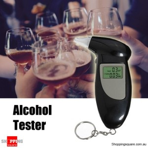 PFT-68S Alcohol Breath Analyser Tester Breathalyser Meter with Key Chain