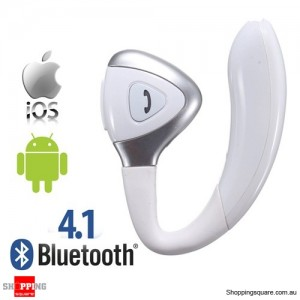 Wireless Bluetooth 4.1 Headset Earphone Headphone with Earbuds for Android iPhone White Colour
