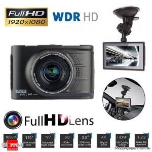 3 inch Full HD 1080P Car Vehicle Video Recorder DVR Dash Camera CCTV with G-sensor