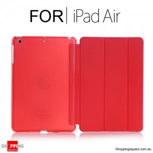 iPad Air Smart Stand Hard Cover Case Red Colour
