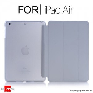 iPad Air Smart Stand Hard Cover Case Grey Colour