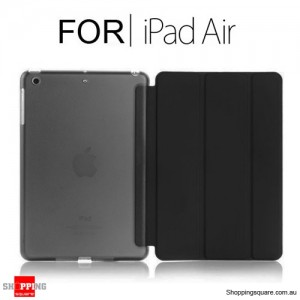 iPad Air Smart Stand Hard Cover Case Black Colour