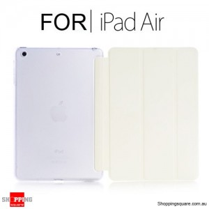 iPad Air Smart Stand Hard Cover Case White Colour