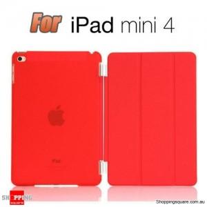 iPad Mini 4 Smart Stand Hard Cover Case Red Colour