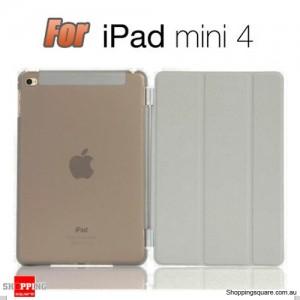 iPad Mini 4 Smart Stand Hard Cover Case Grey Colour