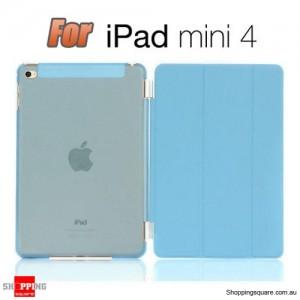 iPad Mini 4 Smart Stand Hard Cover Case Blue Colour