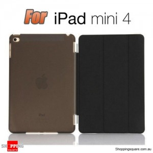 iPad Mini 4 Smart Stand Hard Cover Case Black Colour