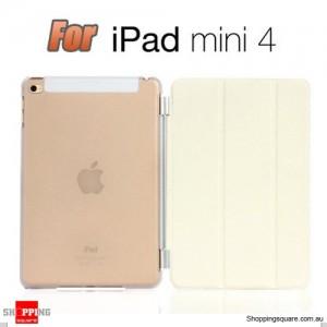 iPad Mini 4 Smart Stand Hard Cover Case White Colour