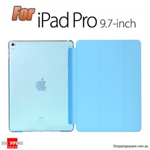 iPad Pro 9.7 Inch Smart Stand Hard Cover Case Blue Colour