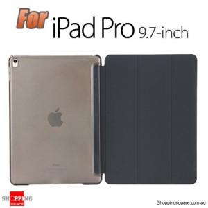iPad Pro 9.7 Inch Smart Stand Hard Cover Case Black Colour