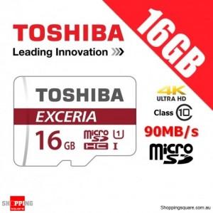 Toshiba Exceria 16GB microSD microSDHC Memory Card 90MB/s 4K FHD