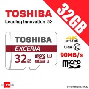 Toshiba Exceria 32GB microSD microSDHC Memory Card 90MB/s U3 4K FHD