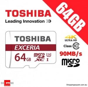 Toshiba Exceria 64GB microSD microSDXC Memory Card 90MB/s U3 4K FHD