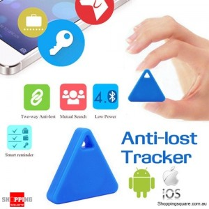 Multifunctional Anti-Lost Bluetooth Smart GPS Tracker Tag Locator Finder for Child Pet Wallet Key Blue Colour