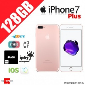 Apple iPhone 7 Plus 128GB 4G LTE Unlocked Smart Phone Rose Gold