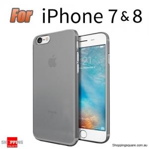 Slim TPU Soft Gel Transparent Case Cover for iPhone 7 & 8 Grey Colour