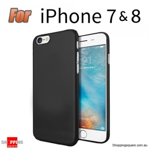 Slim TPU Soft Gel Transparent Case Cover for iPhone 7 & 8 Black Colour