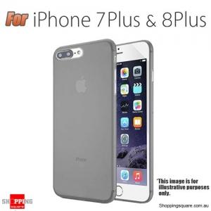 Slim TPU Soft Gel Transparent Case Cover for iPhone 7 Plus & 8 Plus Grey Colour