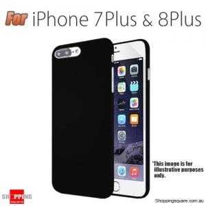 Slim TPU Soft Gel Transparent Case Cover for iPhone 7 Plus & 8 Plus Black Colour