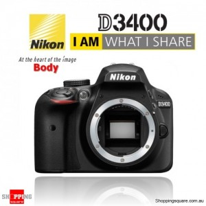 Nikon D3400 DSLR Digital Camera Body Black