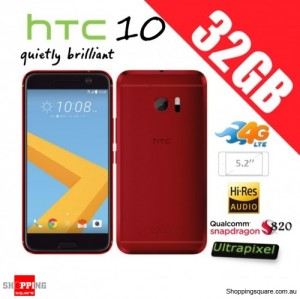 HTC 10 4G LTE 32GB Unlocked Smartphone Red