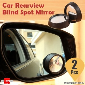 2 Pcs of Car Rearview Side View Blind Spot Mirror Convex Adjustable & Wide Angle