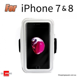 Sports Running Armband Case for iPhone 7 White Colour
