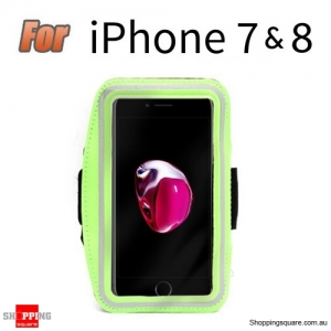 Sports Running Armband Case for iPhone 7 & 8 Green Colour
