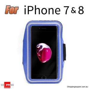 Sports Running Armband Case for iPhone 7 & 8 Blue Colour