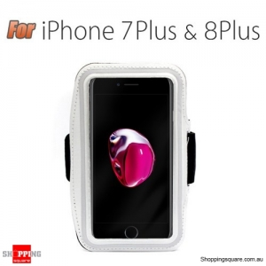 Sports Running Armband Case for iPhone 7 Plus White Colour