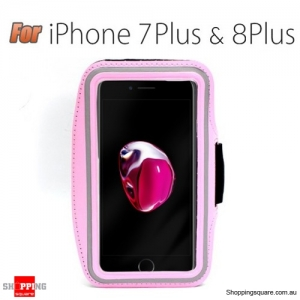 Sports Running Armband Case for iPhone 7 Plus & 8 Plus Pink Colour