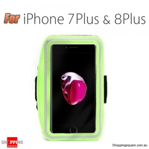 Sports Running Armband Case for iPhone 7 Plus Green Colour