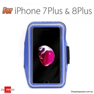 Sports Running Armband Case for iPhone 7 Plus & 8 Plus Blue Colour